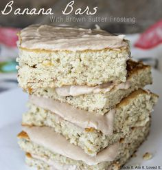 Banana Bars are always a favorite in our home, at BBQs, parties, or any type of pot luck! The recipe makes a whole large cookie sheet ...