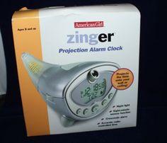 American Girl Zinger Projection Alarm Clock New In Box
