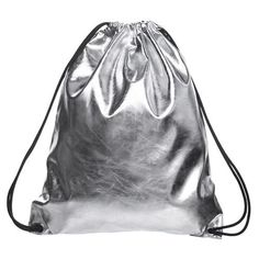 Trendy Soft Functional Solid Metallic Leather Drawstring Large-Capacity Backpack 7 Colors