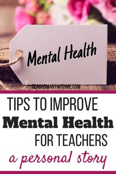 Are you feeling negative as a teacher? Is it impacting your mental health? Here's personal story from a teacher who has found tips to help improve the mental health of teachers Mental Health Illnesses, Mental Health And Wellbeing, Mental Health Resources, Mental Health Support, Improve Mental Health, Mental Health Problems, Stress And Health, Teacher Morale, Dealing With Stress