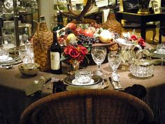 Ralph Lauren's Thanksgiving table setting.  Scroll down in blog post to see more pictures.  Stunning.