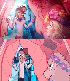 "Lars and Sadie redraw!! for the anon that asked for it :D Screenshot from ""Island Adventure"", done in photoshop CC"