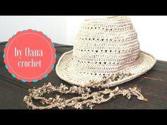 crochet Fedora summer hat - YouTube