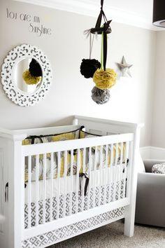 Grey and Yellow Nursery--love love love.