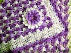 Patrón crochet de punto para manta de cuna | Crochet y Dos agujas