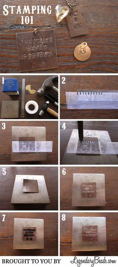 Legendary Beads » free Tutorial: Stamping 101: jewelry making DIY instructions