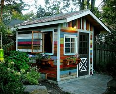 Turn salvaged wood into a small structure for storage or for sleeping.
