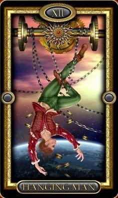 Hanged Man Tarot, The Hanged Man, Tarot Meanings, Esoteric Art, Tarot Major Arcana, Tarot Card Decks, Dragon Art, Oracle Cards, Magick