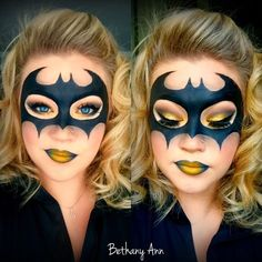 Bat Man Halloween Makeup More #facepaintingideas