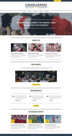 I want it! Who liked it?   Cheerleading Responsive Website Template CLICK HERE! Save up to 69%  http://cattemplate.com/template/?go=2dpDyyZ