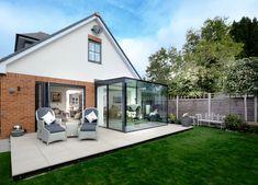 House Extension Design, Glass Extension, House Design, Extension Ideas, Indoor Outdoor Living, Outdoor Rooms, Sliding Door Window Treatments, Modern Villa Design, Sliding Door Systems