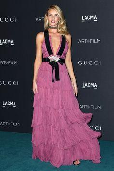 Rosie Huntington-Whiteley in Gucci - LACMA 2015 Art+Film Gala Honoring James Turrell and Alejandro G Inarritu, Presented by Gucci - November 7, 2015