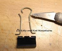 dollhouse furniture handles (including mini refrigerator etc.) from clips