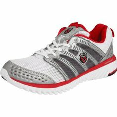 K Swiss Blade Light Run Womens Running sneakers / Shoes White :Disclosure :Affiliate Link Best Cross Trainer, Running Sneakers, Shoes Sneakers, True Red, Silver Shoes, How To Run Faster, Shoe Collection, Basketball Shoes