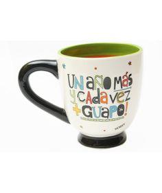 """Mug """"Un año más y cada vez + guapo!"""" - Mugs para hombres, $49.000 COP. Encuentra más mugs de diseño en www.giferent.com/mugs"""