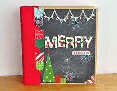 Created by design team member Jill Cornell using our red SN@P! Binder and our December Daily collection