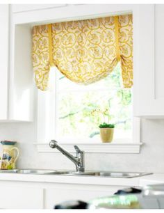 Dakota Fabric Valance from Smith & Noble- these would look so cute in my kitchen