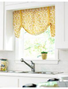 Kitchen window treatment idea