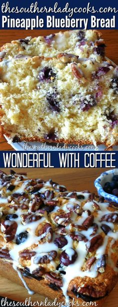 Pineapple blueberry bread is wonderful with your morning coffee for breakfast an. Pineapple blueberry bread is wonderful with your morning coffee fo Pineapple Bread, Pineapple Recipes, Pineapple Juice, Bread Pudding With Apples, Blueberry Chocolate, Chocolate Chips, Coffee Tasting, Coffee Shops, Coffee Lovers