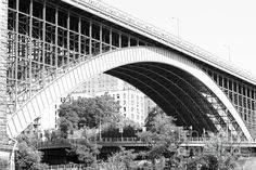 Washington Bridge, New York City The Washington Bridge provides connection between the boroughs of Manhattan and the Bronx. The secondary arch is pictured, supporting six lanes of traffic over the Metro North Railroad.