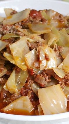 Next time Bill wants Cabbage soup try Unstuffed Cabbage ~ All the goodness of the stuffed version but without the extra work. There isn't a lot of broth like a soup; it is more like stew with just enough to ladle over the rice or dip your bread in. Easy Soup Recipes, Crockpot Recipes, Dinner Recipes, Healthy Recipes, Healthy Soup, Cabbage Soup Recipes, Meals With Cabbage, Small Cabbage, Easy Taco Soup