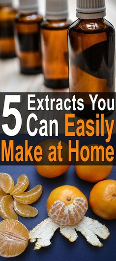 5 Extracts You Can Easily Make at Home. If you use extracts, you know how expensive they are. t's cheaper to simply make it yourself. #Homesteadsurvival #DIY #Makeyourownextract #Extracts #Vanillaextract #Flavorfulbaking