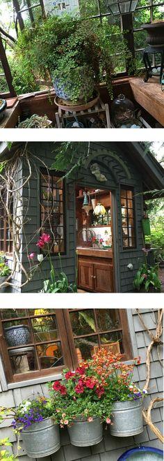 Rustic Garden Potting Shed - Take a Tour
