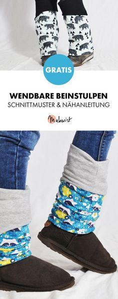 Gratis Anleitung: Wendbare Beinstulpen nähen - Schnittmuster und Nähanleitung via Makerist.de