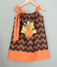 Baby and Toddler Chevron Turkey Dress by jamnjelli on Etsy, $28.00