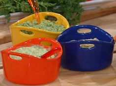 Colorful dip bowls! Green Goddess Dip from @Rachael Ray Show