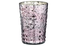 XL Fleur Dis Lis Glass Votive, Pink on OneKingsLane.com