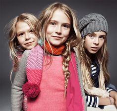 winter kids, lots of layers