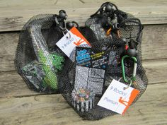 Rock climbing birthday party-- fill mesh bags with treats like Pop Rocks and chocolate candy rocks