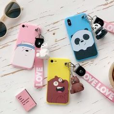 Cute Cartoon We Bare Bears brothers funny soft phone case for iphone 5 7 8 plus X XR XS MAX for samsung Note 8 9 Kawaii Phone Case, Girly Phone Cases, Disney Phone Cases, Funny Iphone Cases, Diy Phone Case, Iphone Phone Cases, Iphone 5s, Samsung Cases, Iphone 7 Plus