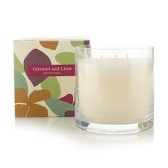 Debenhams Coconut and lime scented candle- at Debenhams.com