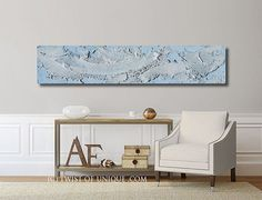 Oxidized Metal Painting /CUSTOM /  blue Patina and Silver / 60x12 / Industrial abstract painting / patina, blue, silver, rust, metal