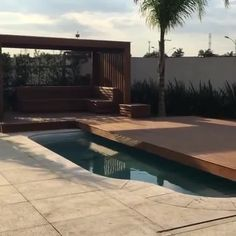 Such a clever design idea converting a pool to a deck by GUSTAVO CESAR. Click the image to try our free home design app. Keywords: clever house ideas, clever home design, unique home design ideas, coo Oberirdische Pools, Swimming Pools Backyard, Swimming Pool Designs, Pool Landscaping, Home Design, Unique House Design, Clever Design, Design Ideas, Design Your Dream House