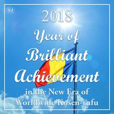 This year's SGI theme for 2018....may all  of our lives be filled with brilliant achievement! ✌️❤️🕯️-NMRK 🙏📿