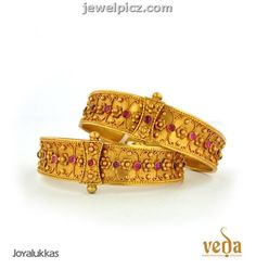 Joy Alukkas Temple gold Bangle designs -Veda collection ~ Latest ...