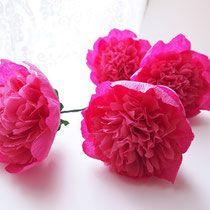 Blume Aus Krepppapier Anleitung Blumen Aus Krepppapier