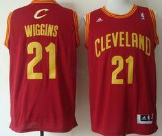 Cleveland Cavaliers  21 Andrew Wiggins Revolution 30 Swingman Red Jersey d2e664900b9e