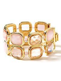 Pink pillow-top bracelet
