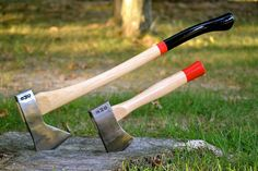 Hudson Bay Axe and straight-hold hatchet by Best Made Company.