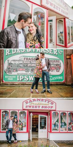 Gorgeous 1950s Rock 'n' Roll, Rockabilly Engagement Shoot | Bride Bubble - The Ultimate Wedding & Style Blog.