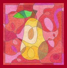 Jablko, hruška – čáry a barvy Fall Crafts, Diy And Crafts, Color Wheel Art, Collages, Art Lesson Plans, Doodle Art, Art Lessons, Art Projects, Doodles
