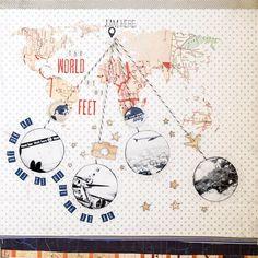 The World at My Feet (Simple scrapper) - Scrapbook.com
