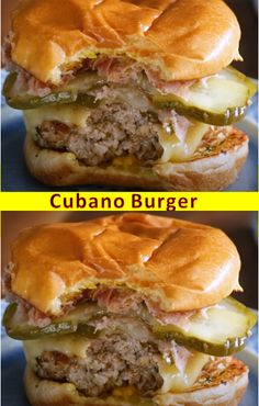 This is The Best Recipes >> Cubano Burger - Special recipes 487655465899195788 Grilling Recipes, Meat Recipes, Cooking Recipes, Cuban Recipes, Cooking Ham, Healthy Recipes, Cooking Ideas, Lunch Recipes, Recipies