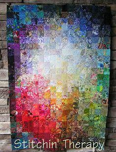 Wonder of Color Watercolor quilt  beeeeuuutiful!!!