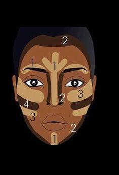 <img> Contorno Facial Para Pele Negra More - Makeup 101, Makeup Goals, Makeup Inspo, Hair Makeup, Eye Makeup, Makeup Ideas, Beauty Makeup, Simple Makeup Tips, Glamour Makeup