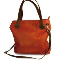 Borsa in vera pelle donna genuine leather bag con tracolla bordeaux e marrone